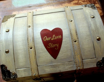 Keepsake Box Memory Box Baby's Time Capsule Treasure Chest Trunk