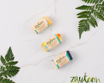 Exotic Mini Soap Sampler -- Try 3 2oz Mini Soaps -- Arabian Nights, Asian Tropics, and India Summers