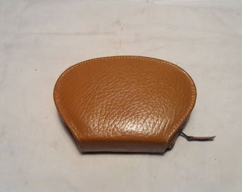 Vintage 1970's Male Shaving Kit in Brown Leather Case - NEW