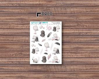 Two Little Birdies Deco Stickers | ECLP | Happy Planner | Recollections Planner