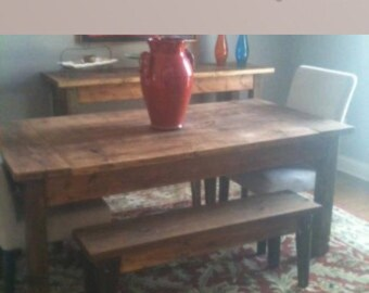 Special listing for jennifer- dining table and benches