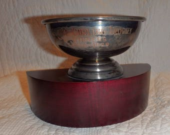 Vintage Curling Trophy
