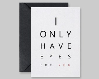 Love Card, I Only Have Eyes For You, Valentine Card, Cards For Him, Cards For Her, Valentine Love Card, Printable Card, Blank Card