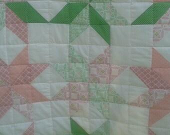 Vintage Chique inspired star playmat/ quilt