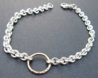 Silver handmade chain link bracelet theresa pytell 14kt gold chain link bracelet one of a kind