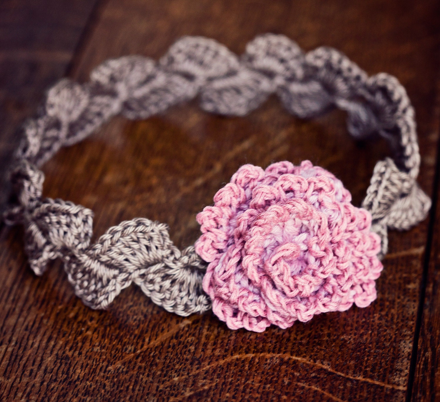 Crochet pattern centifolia rose headband sizes baby to zoom bankloansurffo Image collections