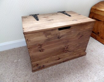 Compact blanket box, choice of colours, made to order.