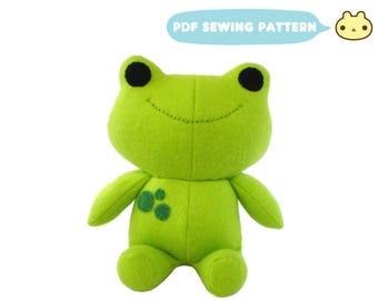 Frog Plush Pattern, Plush Sewing Pattern, Kawaii Frog PDF, Stuffed Frog, Plush Frog Sewing, Frog Pattern, Baby Toy Pattern, DIY Frog Pattern