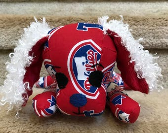Little Wide-Eyed Phillies Puppy, Baby Gift, Shower, Philadelphia, Red and blue