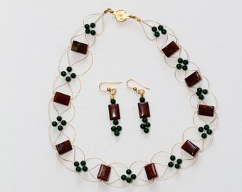Fall inspired collection. Set. Choker+earrings