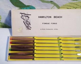Vintage Fondue Forks Set in  Original Box