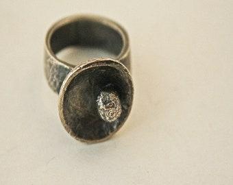 Antiqued Bowl Ring