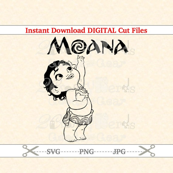 Make Your Own Moana Baby With Name Life Circle Png Svg Jpg