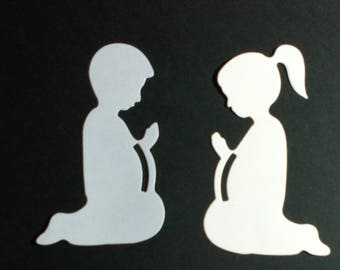 Die cuts, die cut figures for cards, invitations or memories of communion