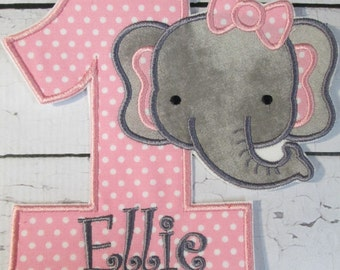 Iron On Applique  - Elephant Birthday