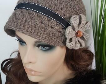 Crocheted Bonnet Hat