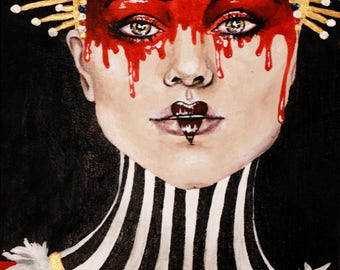 Queen of Hearts Acrylic Painting
