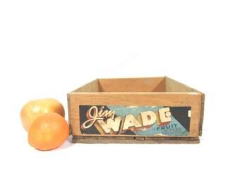 Vintage Jim Wade Box Original Advertising Label Wenatchee WA
