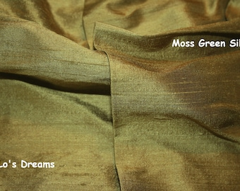 Designer - SLIP-ON - Lamp Cord Cover - 9 ft Moss Green - 100% Dupioni Silk - LoLos Dreams