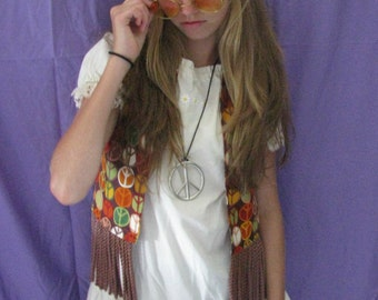 60's child costume-3 pieces-pants, tunic, vest  with accessories