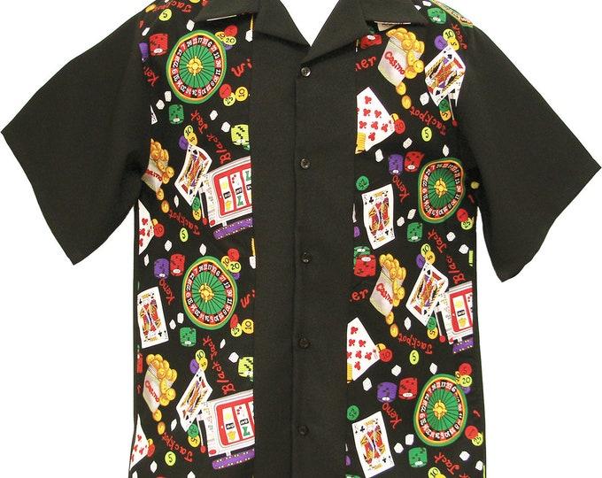 Men's Bowling Shirt - Free Shipping - CASINO Games Print Design
