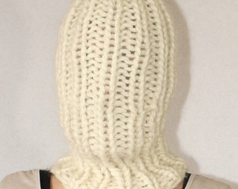 SALE !!! Thick knit balaclava icelandic Lopi Wool chunky knit wool hat cap for men hand knitted by Strickolino
