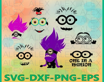 70% OFF, Minions faces SVG, Minions SVG, Despicable me Svg, Minions cut files, Minions Svg, Dxf, Eps, Png files, Minions Clipart