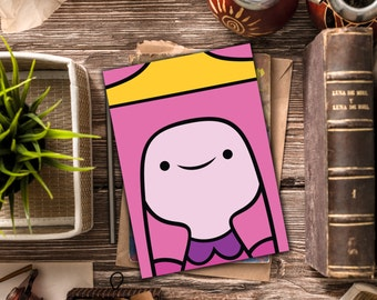 INSTANT DOWNLOAD / Adventure Time stationary / Princess Bubblegum blank card / Adventure Time blank card / Princess Bubblegum stationary