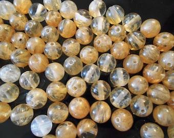 12 Citrine beads November birthstone 13th Anniversary Natural citrine stone Round citrine ball beads Loose gemstone beads Jewelry Supplies