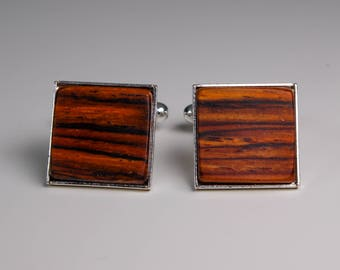 Cocobolo wood cuff links