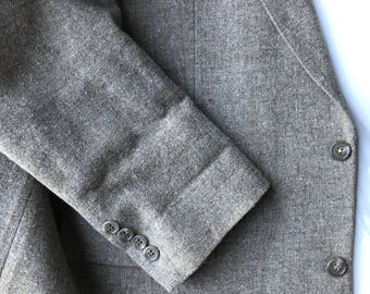 C&R Clothiers 42L Light Brown Wool Sport Coat