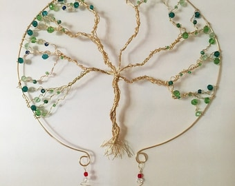 Tree of life wire wall hanging decoration