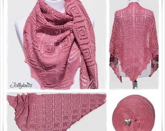 Knitting Pattern Lace Shawl La Vie en Rose