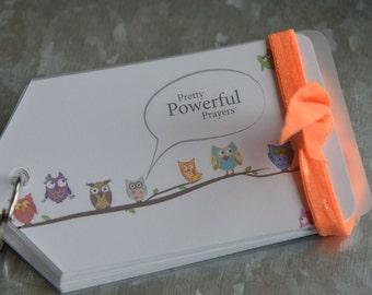Powerful Prayer Cards, Inspiration verses,Scripture Cards -Owls, God cards
