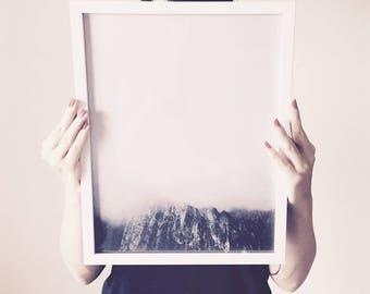 Black and White Print, Black and White Photography, Minimalist Wall Art, Mountain Print, Mountain Wall Art, Minimalist Art, Printable Art