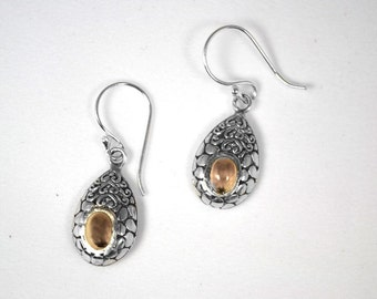 Sterling Silver and Gold Earring