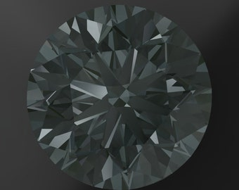 Private Listing for Rapt - ZAYA moissanite - 1 carat round gray moissanite, loose stones