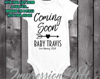 Pregnancy Announcment - Expecting Announcment baby onesie, Expecting baby shirt - Baby Announcment