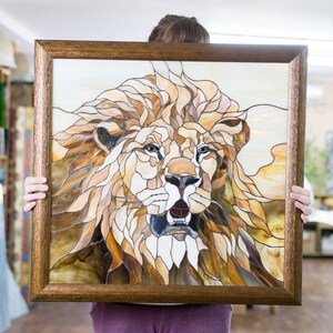 Stained Glass Lion Etsy
