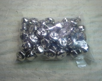 "20mm 3/4"" Silver Sleigh Bells QTY 40 - FREE SHIPPING"