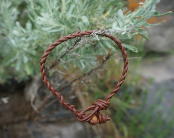 Braided Leather Bracelet stacking bracelet/ Leather Anklet