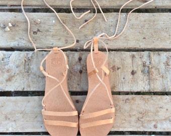 Tie up Leather Sandals,Greek Lace up sandals, Lace up sandals for women, Leather Gladiator Sandals, Handmade Greek Sandals, Women sandals,