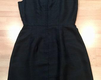 1960 Perfect Black Dress! Size 6