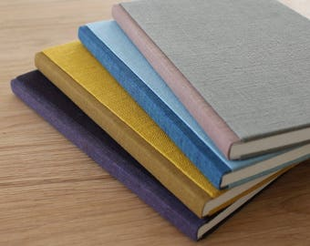 Large Linen Notebook with Soft Covers and Color Blocking