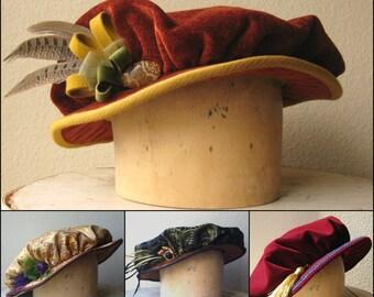 Custom Renaissance Cap - Tudor Elizabethan Renaissance Costume Hat - For Men And Women - Made To Order