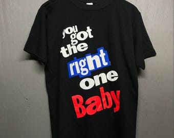 M vintage 90s Pepsi you got the right one baby t shirt