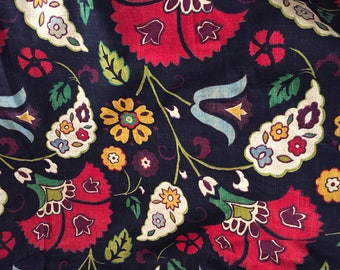 Jacobean Upholstery Fabric - Home Decor Fabric - 4 yards continuous - Thistle and Tulip
