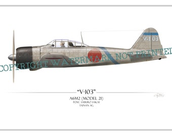 A6M Zero - Saburo Sakai WW2 Aviation Warbird Art Print
