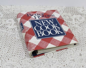 Better Homes and Gardens New Cookbook ~ 1991 ~ 5 Ring Hardcover Red White Check ~ Collectible Cookbook ~ Nostalgic Recipes ~ Retro Cooking