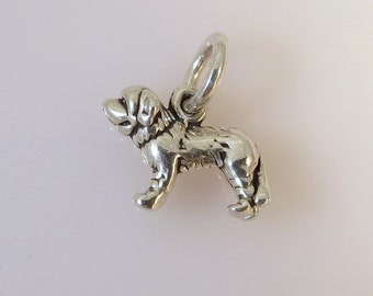 Sterling Silver 3-D Small ST. BERNARD Charm Pendant Dog Breed Puppy Pet Saint .925 Sterling Silver New dg11